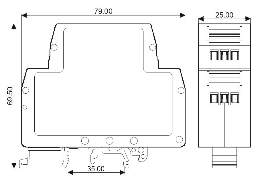 pt100/cu50热电阻温度信号隔离变送器