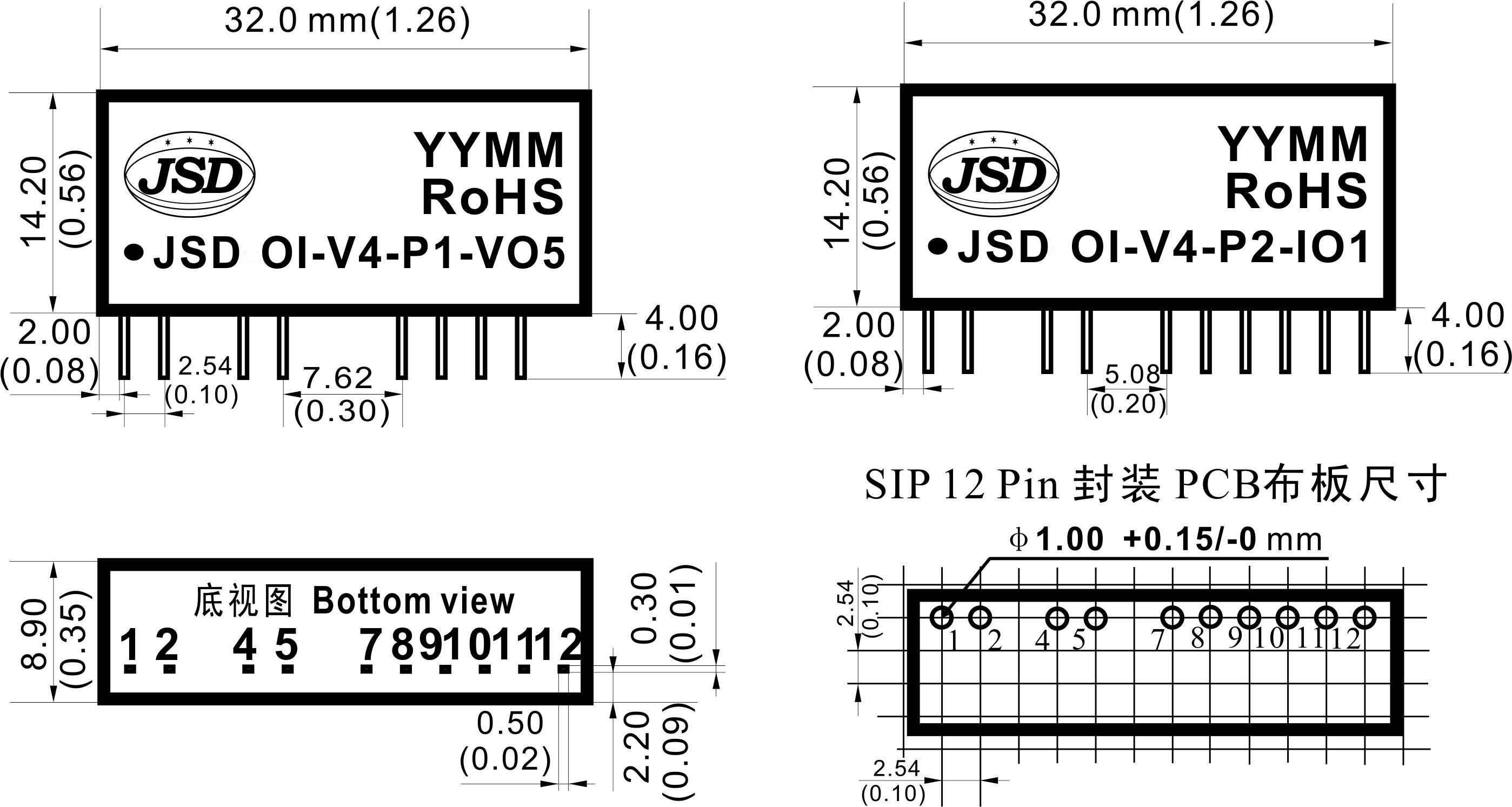 单向直流电压/电流信号光电隔离放大器