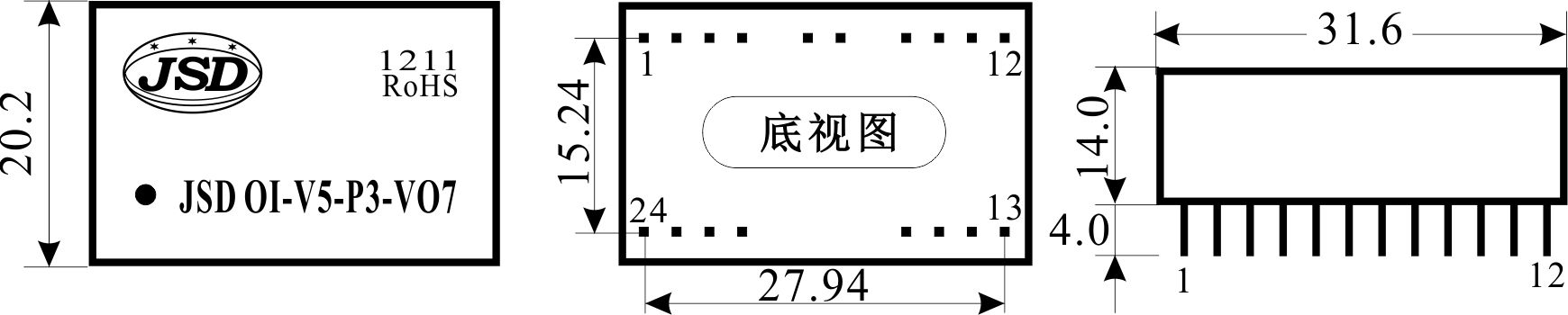 捷晟达科技推出高精度高频率隔离变送器,放大器,及模拟信号采集产品 高频率(50KHz)正负双向电压信号隔离放大器模块IC 特征:  低成本、小体积、标准DIP24脚封装  阻然封装,符合UL94-V0阻燃标准  信号输入、信号输出、工作电源间2500VDC 隔离  正负双极性输入与输出  使用简单,固定增益放大  高频响(50KHz信号带宽)  工业级温度范围: -25~+85   精度等级:0.