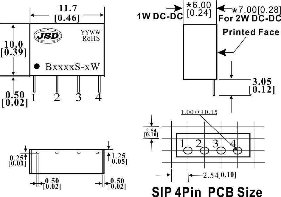 1000vdc隔离定电压输入非稳压正电压输出dc-dc电源bs