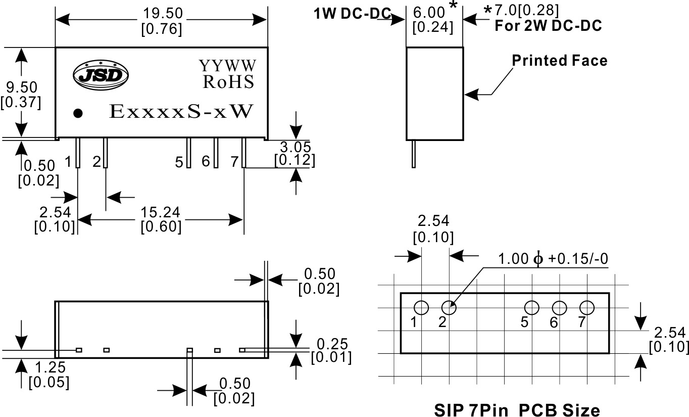 3000vdc隔离定电压输入非稳压正负双电压输出dc-dc电源es/d系列