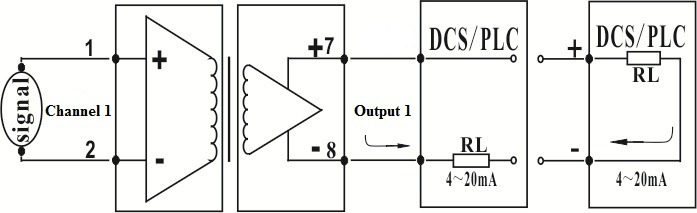 20139815937449 1 input 1 output two wire 4 20ma loop analog signal isolation loop power wiring diagram at aneh.co