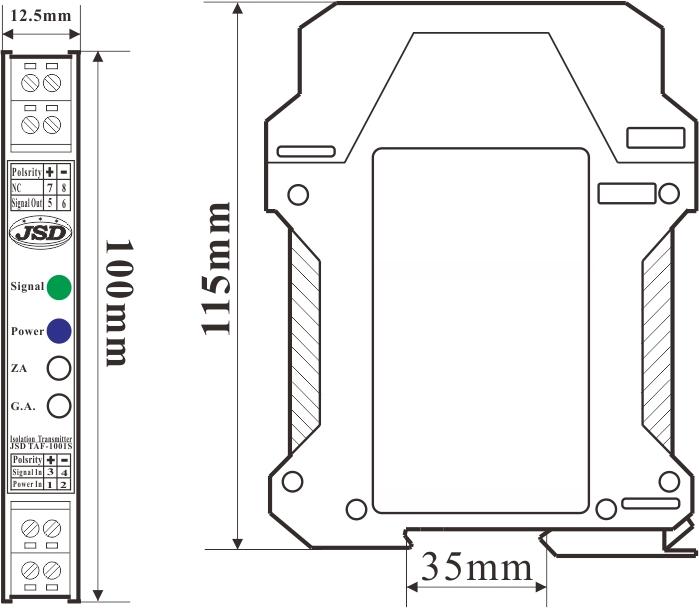 一进一出频率脉冲V/F转换器变换器
